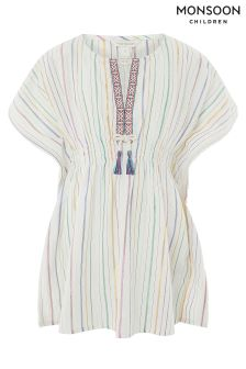 Monsoon Ivory Rainbow Kaftan