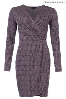 French Connection Rose Linear Jacquard Dress