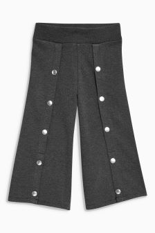Popper Detail Ponte Culottes (3-16yrs)