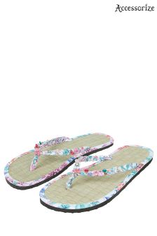 Accessorize Green Tropical Tahiti Seagrass Flip Flop