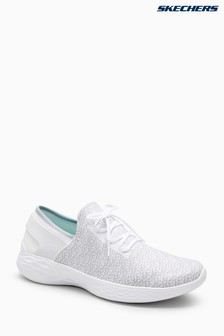 Skechers® You Inspire White Textured Lace Detail Slip-On