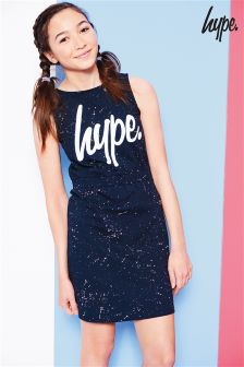 Hype. Navy Splatter Dress