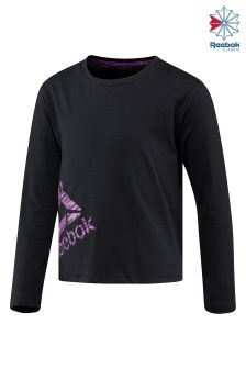 Reebok Black Essentials Long Sleeve Graphic Tee