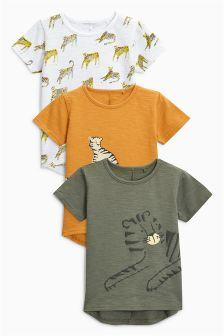 Short Sleeve Tiger T-Shirts Three Pack (3mths-6yrs)