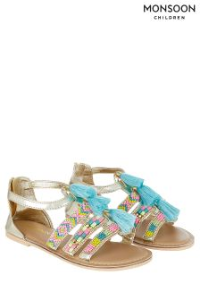Monsoon Multi Tassel Beaded Sandal
