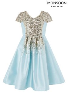 Monsoon Blue Zinnia Sequin Dress
