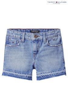 Tommy Hilfiger Girls Blue Nora Denim Short
