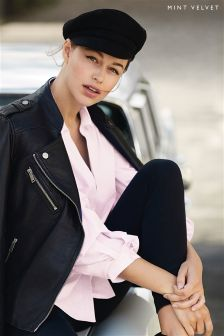 Mint Velvet Pink Ruffle Sleeve Shirt