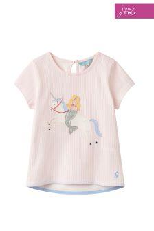Joules Pink Maggie Appliqué Jersey T-Shirt