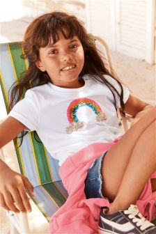 Sequin Rainbow Short Sleeve T-Shirt (3-16yrs)