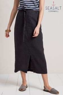 Seasalt Pencil Lead Skirt Dark Night