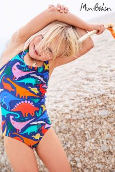Boden Blue Crossback Swimsuit