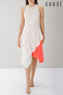Coast Pink Kai Colourblock Midi Dress