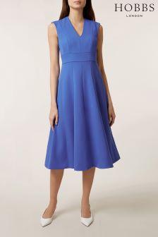 Hobbs Blue Avana Dress