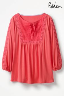 Boden Coral Sunset Anna Jersey Top
