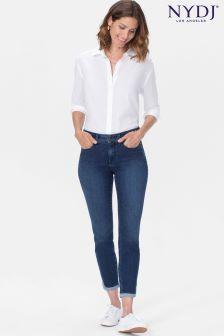 NYDJ Mid Blue Denim Ami Skinny Ankle Jean With Contrast Hem