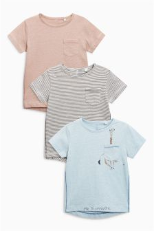 Giraffe T-Shirt Three Pack (3mths-6yrs)