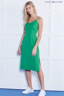 Tommy Hilfiger Green Hero Midi Dress