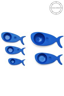 Set of 5 Rick Stein Blue Measuring Spoons
