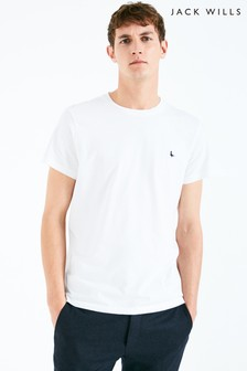 Jack Wills White Sandleford Basic Tee