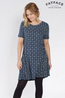 Fat Face Navy Simone Star Tile Dress
