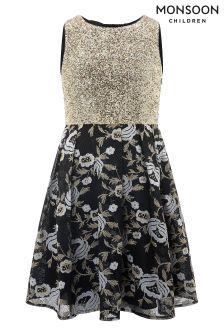 Monsoon Black Nicoletta Dress