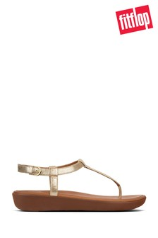 FitFlop™ Pale Gold Leather Tia Toe Post Sandal