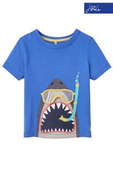 Joules Blue Chomper Appliqué T-Shirt