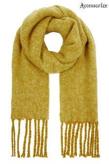 Accessorize Yellow Super Fluffy Scarf
