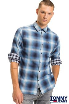 Tommy Jeans Blue Basic Check Shirt