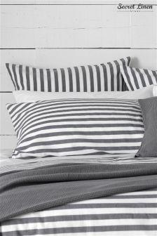 Secret Linen Store Coastal Stripe Pillowcase