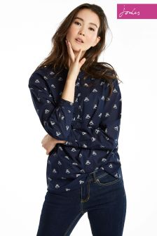 Joules Navy Bee Georgina Woven Top