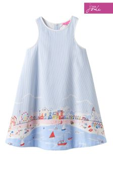Joules Beach Border Bunty Woven Dress