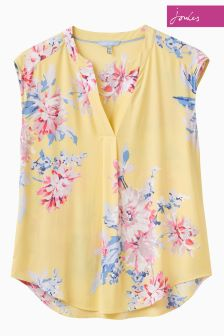 Joules Lemon Whistable Floral Jae Top