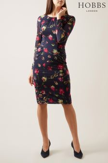 Hobbs Navy Multi Rori Dress