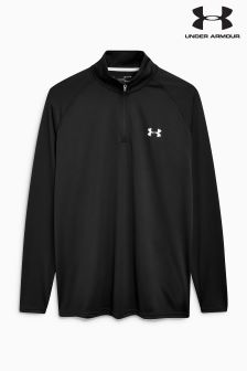 Under Armour Run Academy Black 1/4 Zip Tech Top