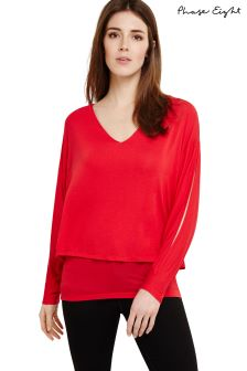 Phase Eight Punch Pink Gisella Double Layer Knit