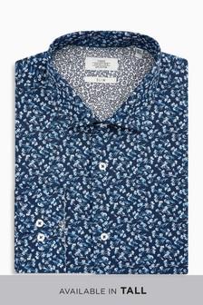 Floral Printed Slim Fit Shirt