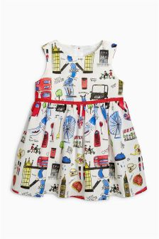 London Print Prom Dress (3mths-6yrs)