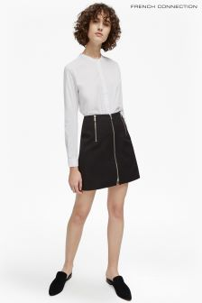 French Connection Black Glass Stretch Mini Skirt
