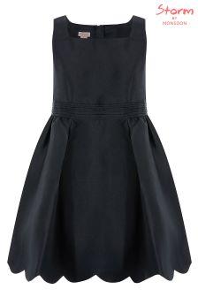 Monsoon Black Mila Bow Prom Dress