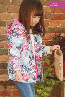 Joules Ditsy Print Rubber Coat