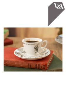 V & A Alice In Wonderland Espresso Cup and Saucer