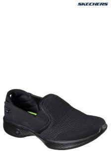 Skechers® Black Go Walk 4 Attuned Black Twin Gore Slip-On