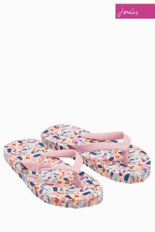 Joules Cream Ditsy Girls Flip Flop