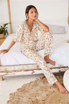 Ditsy Floral Print Pyjamas