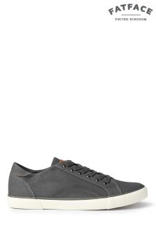 FatFace Grey Adbury Lace-Up Trainer