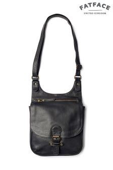 FatFace Black Hannah Oiled Cross Body Bag