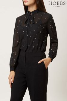 Hobbs Black Luna Blouse