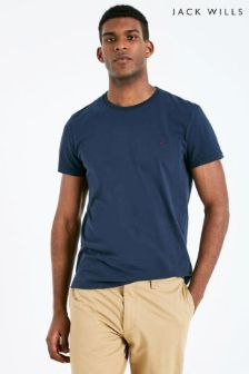 Jack Wills Navy Sandleford Basic Tee